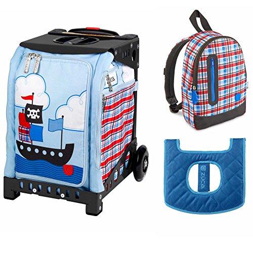 ZUCA Kids039; Mini Pirate Bag/Black Frame + Backpack and Seat Cushion by ZUCA
