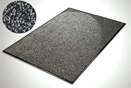 Grey Commercial PVC Rubber Anti Non Slip Entrance Shop Office Garage Door  Floor Mat Hardwearing Commercial
