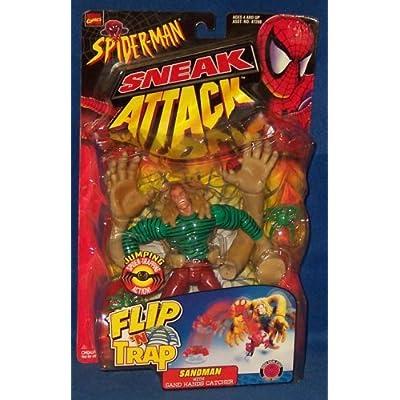 Spider-Man Sneak Attack Flip N' Trap Sandman Action Figure: Toys & Games