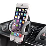 iphone 5 ca se - Phone Holder, Lyplus Car Mount Holder 360 Rotating Air Vent Car Phone Holder Flexible Phone Cradle Holder for iPhone 8/7/6s/6s Plus/6/6 Plus/5s 5 5c se, Samsung Galaxy S6 LG Nexus Sony and More