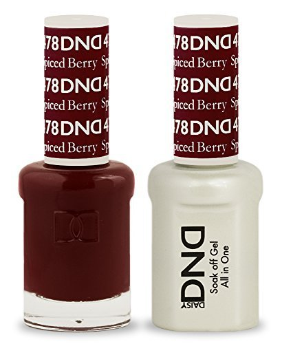 DND Soak Off Gel Polish Dual Matching Color Set 478, Spiced Berry by DND Duo Gel