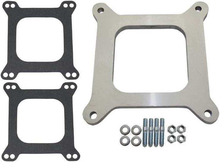 Pirate Mfg 1 Open Square Aluminum Carburetor Spacer Fits Edelbrock Holley Sbc BBC Chevy V8