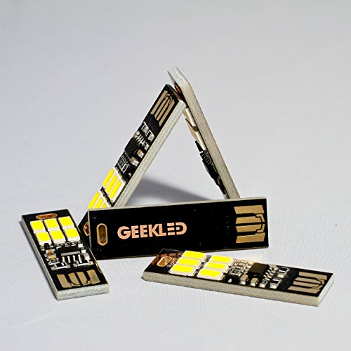 GEEKLED USB POWERED 6-LED PCB LIGHT: 5 Keychain Mini USB Lamp Sticks with Capacitive Touch Dimming Technology Photo #8