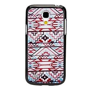 Tejido Diseño Caso duro del patrón Red para Samsung Galaxy S4 Mini I9190