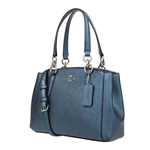 Carryall Christie Blue Leather Crossgrain in Coach wp5Cgqwn