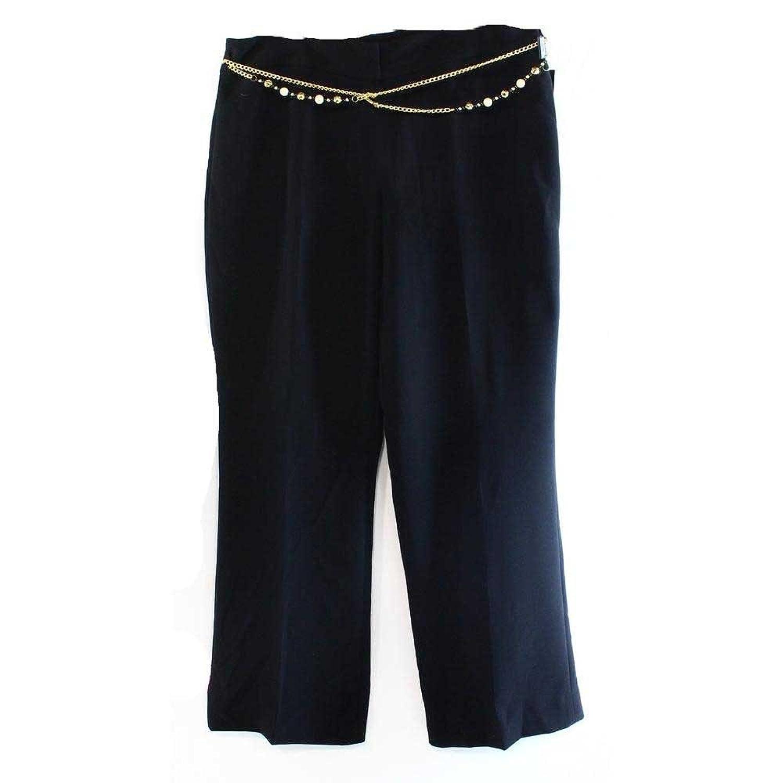 Tahari Arthur S. Levine Petite Chain Accented Dress Pants, Black 8P