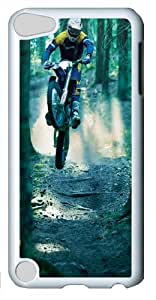 motocross Custom iPod Touch 5 Case Cover ¨C Polycarbonate ¨C White