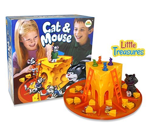 Little Treasures Cat and Mouse Cheese Game Kid's Interaction Cat Mouse 3D Board Game. Great for Boys and Girls.