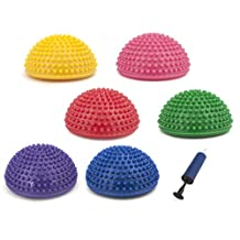 GOGO Set of 6 Balance Pods / Spike Therapy Dome, With Air Pump