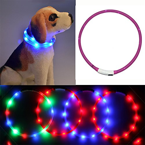 Collars Resistant Rechargeable Silicone Walking