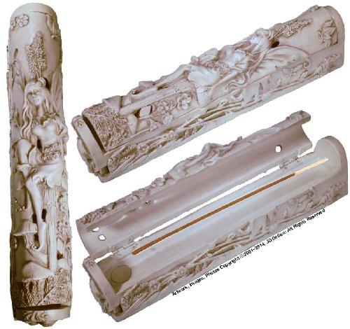 Nose Desserts Fairy Maiden Nymph Coffin Box Stick and Cone Incense Burner-Ashcatcher