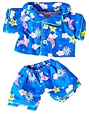 Sunny Days Blue Pj's Fits Most 8'-10' Webkinz, Shining Star and 8'-10' Make Your Own Stuffed Animals and Build-A-Bear
