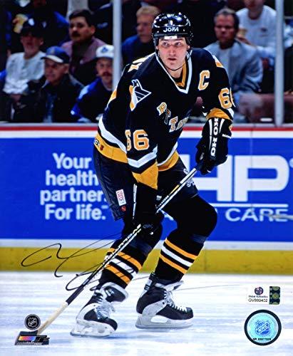 Mario Lemieux Pittsburgh Penguins Signed Autographed 8
