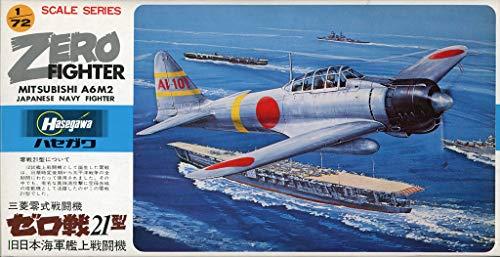 Hasegawa 1:72 Mitisubishi A6M2 Zero Fighter Japan Navy Plastic Model Kit #A3