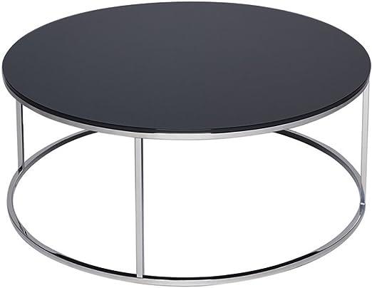 Gillmore Space Cristal Negro y Plata Metal contemporáneo Circular ...