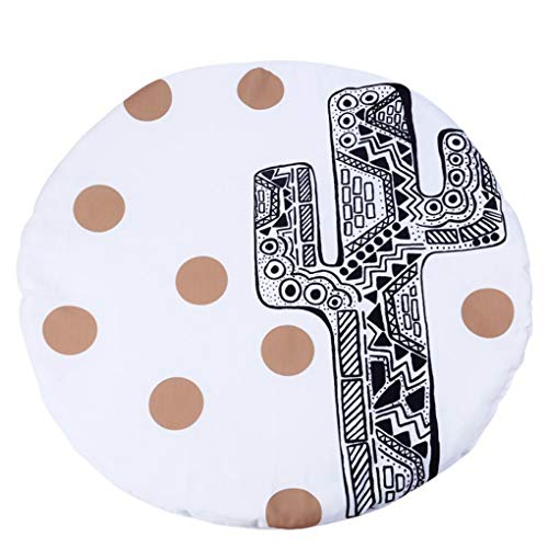 Round Rugs Baby Rug Nursery Rugs Design Home Decoration Area Rugs Bedroom/Living Room Carpet Baby Crawling Mats Kids Play Mat Machine Washable Rugs by RXIN (Image #1)