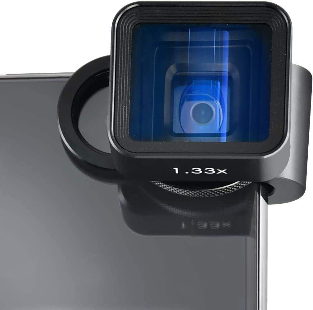 1.33X Phone Camera Lens for Filmmakers USKEYVISION 1.33X Anamorphic Lens Phone Filmmaking Lens Used with Filmic Pro App for iPhone 12//pro//max//mini,for iPhone 11//pro//max,for Android Smarphones
