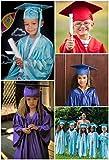 GraduatePro Shiny Kindergarten Preschool Graduation Cap and Gown 2020 Set for Prek Toddler Kids White 27