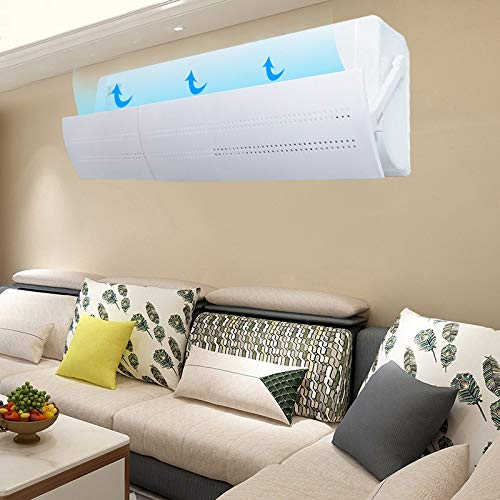 Modaily Retractable Air Conditioner Deflector Adjustable Anti Direct Blowing Windshield Air Conditioning Baffles Wind DirectionTelescopic Air-con Deflectors For Home//Office