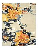 EORC IE54MU9X12 Alfombra Picasso bambú y lana cobriza a mano, 8'9 por 11'9, marfil