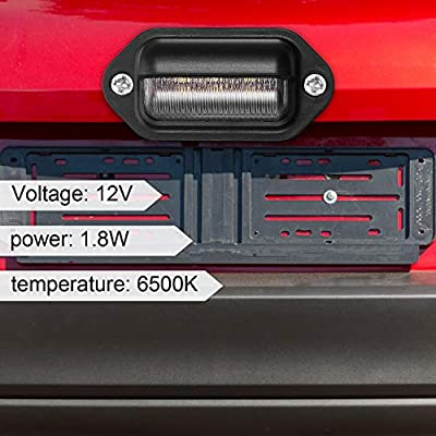 12V 6 LED License Plate Light Waterproof License Plate Lamp Taillight for Truck SUV Trailer Van RV Trucks and Boats License Tags (8 Packs): Automotive