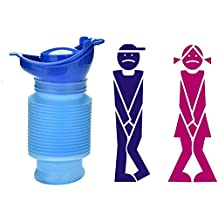 ToBe-U Emergency Reusable Urinal Portable Shrinkable Personal Mobile Toilet Potty Pee Bottle for Kids Adult Camping Car Travel (750 ML)