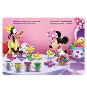 "Use memory skills to help Minnie ""make bows""!"