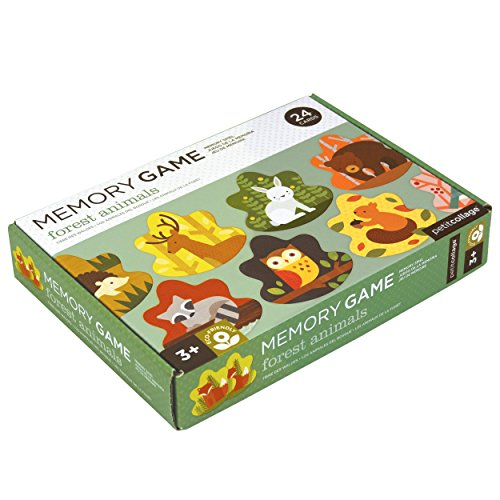 - Petit Collage Memory Game, Forest Animals (24 Chunky Cards to Match)