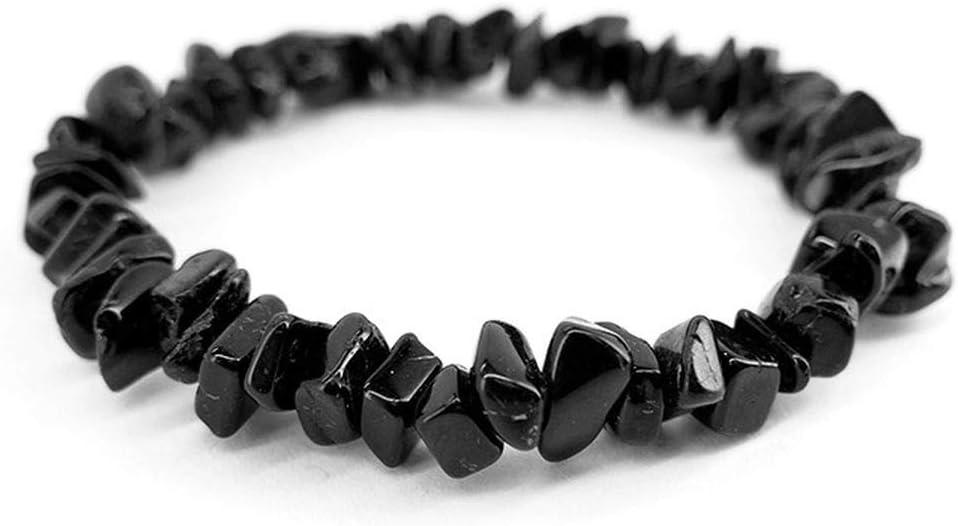 Mineral Import - Pulsera de Chip de Turmalina Negra - 1705VC