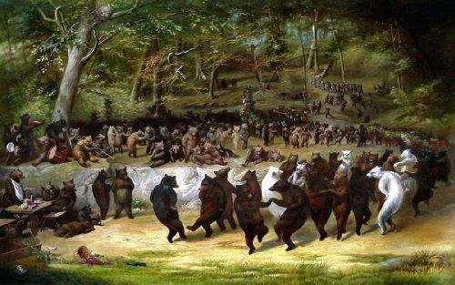 dancing bears painting - 6