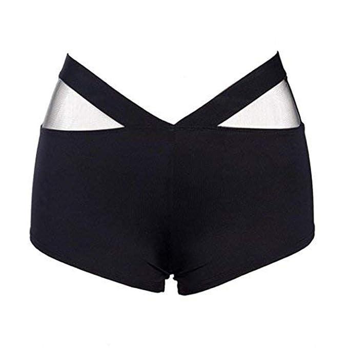 Nuevo!! Pantalones Cortos De Entrenamiento De Malla para Mujer Running Pantalones Cortos De Yoga