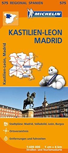 Michelin Kastilien-León, Madrid: Straßen- und Tourismuskarte 1:400.000 (MICHELIN Regionalkarten)