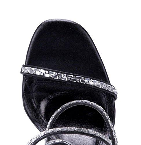10 cm Stiletto Sandaletten Schuhe Sandalen Schuhtempel24 Heels High Ziersteine Damen 0qYw7