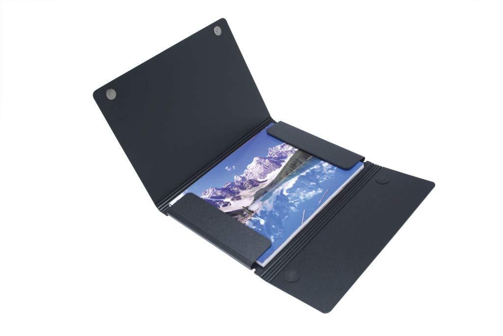 Itoya ProFolio Magnet Closure Folio Case, 11x17'' Art Size, Black