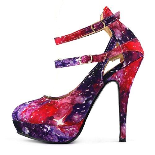 Show Story - tobillo mujer multicolor - rojo