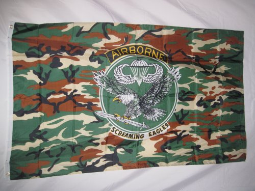 Screaming Eagle Airborne (101 Screaming Eagles Camo Flag Flag 3 X 5 3x5 New Airborne)