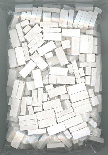 Model Brick - Dollhouse Miniature 325 Piece White Brick