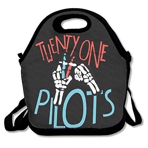IEUBAG Lunch Bag 21 Pilots Band Lunch Tote Lunch Box For Women Men Kids With Adjustable Strap