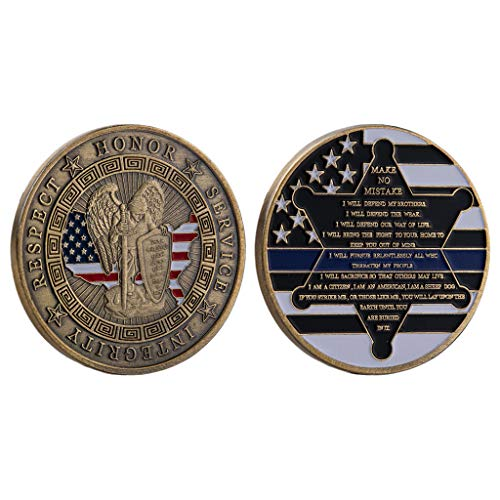 Vaeiner Coins for Kids, Metal Badge American Military Commemorative Coin Paint Antique Collector Gifts from Vaeiner