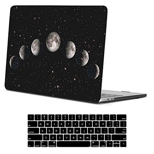 """iCasso MacBook Pro 13 Case 2019 2018 2017 2016 Release A2159/A1989/A1706/A1708, Hard Case Shell and Keyboard Cover for Apple New MacBook Pro 13"""" with/Without Touch Bar and Touch ID, Lunar Eclipse"""