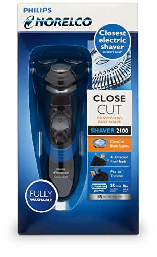 Philips Norelco S1560/81 Shaver 2100 Rechargeable Wet Electric Shaver, with Pop-up Trimmer, 0.851 Pounds