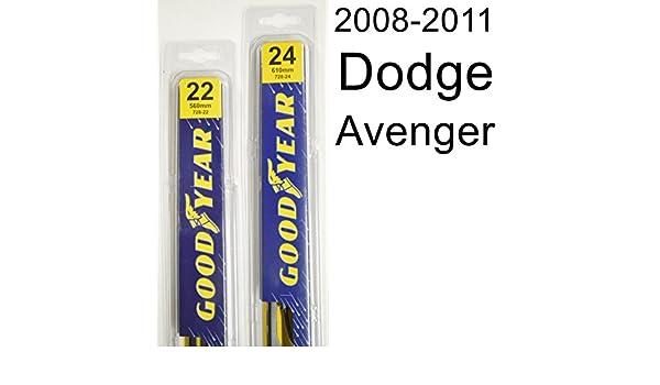 Juego de escobillas limpiaparabrisas Dodge Avenger (2008-2011) - Set incluye 24