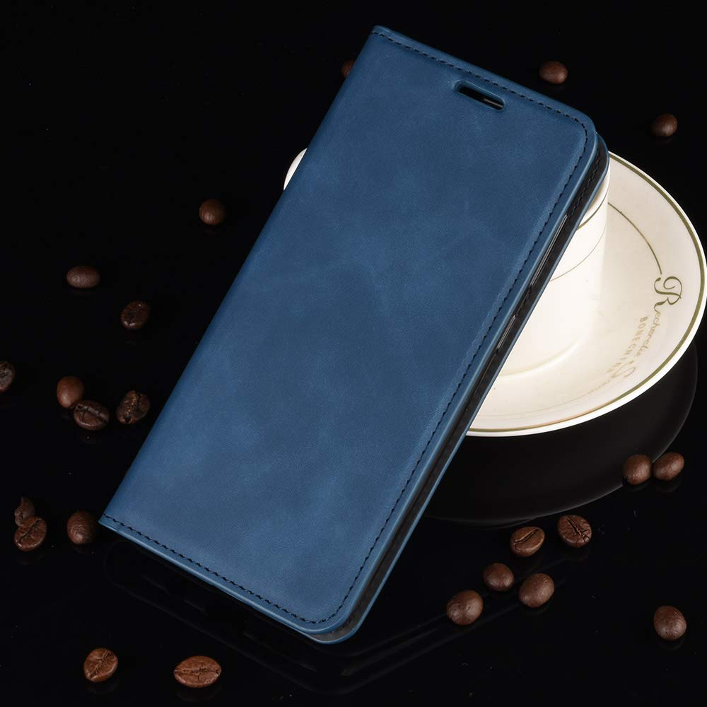 Phone Case Cover for Huawei P30 Lite 2019 Navy Blue High-grade Leather Flip Wallet Card Slots Magnetic Closure Turphevm Case Compatible with Huawei P30Lite Kickstand