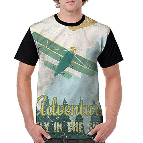 - Female Tops,Vintage,Adventure in Sky Plane S-XXL Women Personalized T-Shirt O-Neck