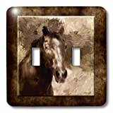 3dRose LLC lsp_12022_2 Ranch Horse, Double Toggle Switch