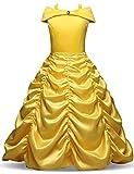 TTYAOVO Girls' Belle Princess Fancy dresses Halloween Dress up Costume