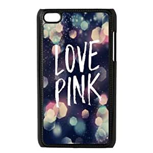 Customized Durable Case for Ipod Touch 4, Love Pink Phone Case - HL-509327