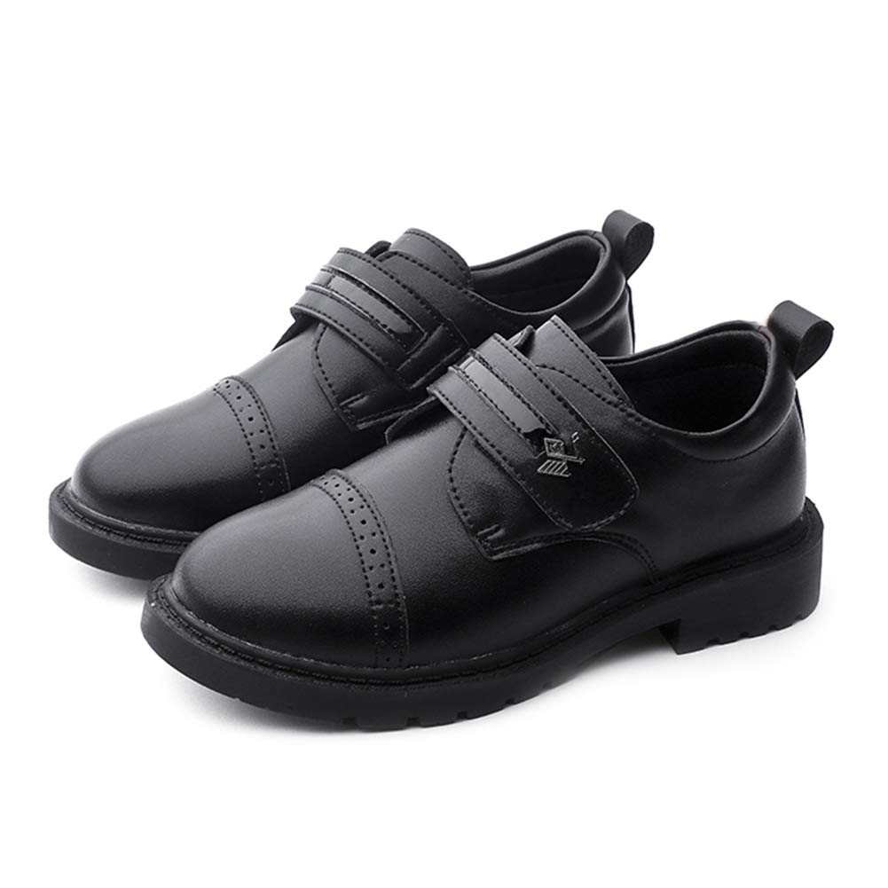 F-OXMY Boys Comfort Breathable Oxfords Dress Shoes Slip-On Casual Shoes (Toddler/Little Kid/Big Kid) Black