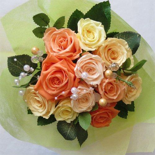 枯れない花 プリザーブドフラワー 花束(誕生日記念日お祝いプロポーズ等に最適) (ビタミンカラー) B00QKBU5LW ビタミンカラー ビタミンカラー