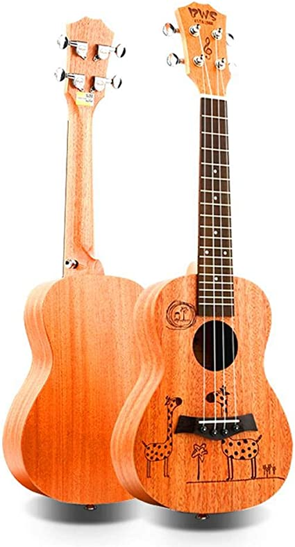 QLJ08 23 pulgadas concierto regalo ukelele 4 cuerdas mini guitarra ...
